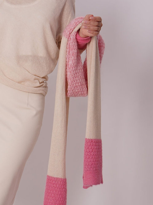 Scarf in Mohair- Rose/Pink