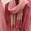 Thumbnail: Scarf in Mohair- Pink/Beige