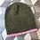 Thumbnail: Bonnet in Mohair in Kaki/Pin