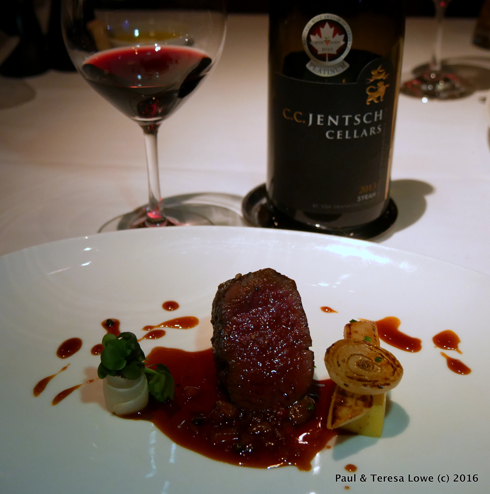 Wine Infused Venison from Araxi Restaurant, Whistler, BC