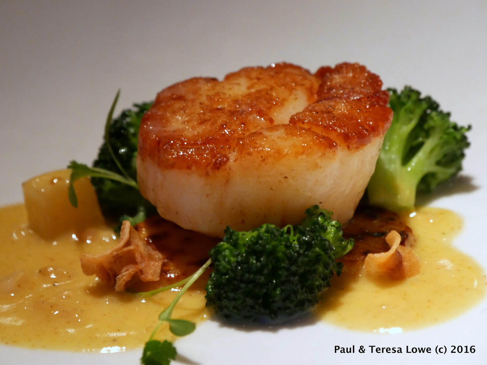 Pan Seared Sea Scallop from Araxi Restaurant, Whistler, BC