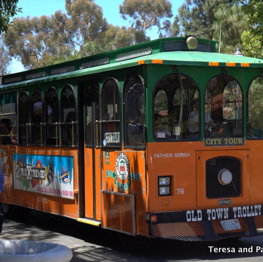 Trolly ride to Balboa Park