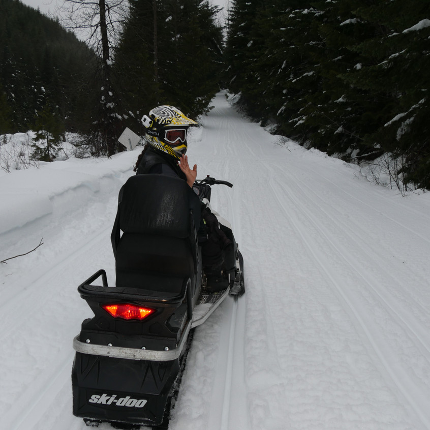 Snowmobiling in Whistler, BC