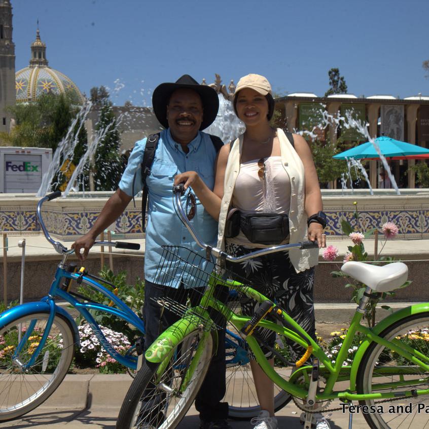 Bike ride from Hard Rock Hotel San Diego to Balboa Park 20 mins!