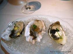 Raw Bar Iyser Trio from Araxi Restaurant and Oyster Bar, Whistler