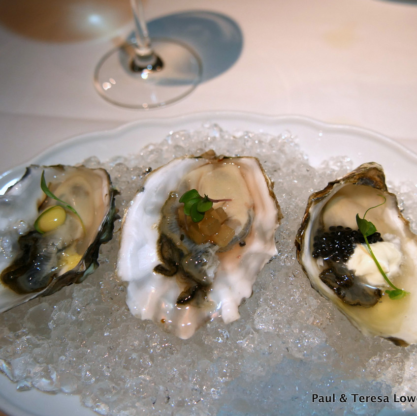 Raw Bar Iyser Trio from Araxi Restaurant and Oyster Bar, Whistler