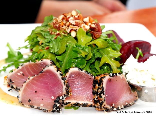 AHI Tuna and Beet Salad from Beacon Pub, Whistler BC