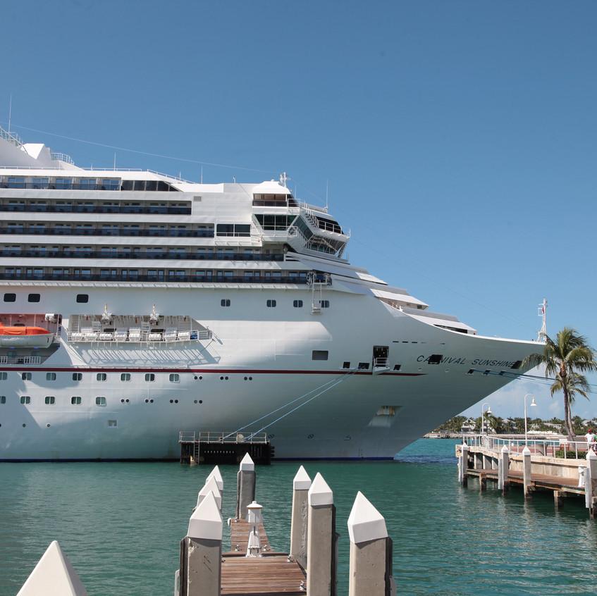 Cruise Ships dock in Key West