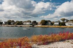 Beautiful homes along the coastline in W