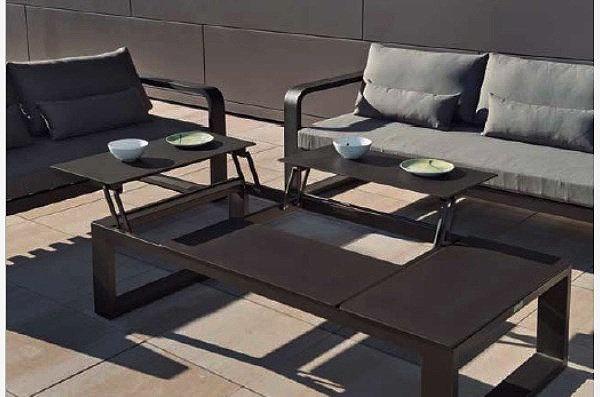 FERMO - Table basse 4 plateaux relevable