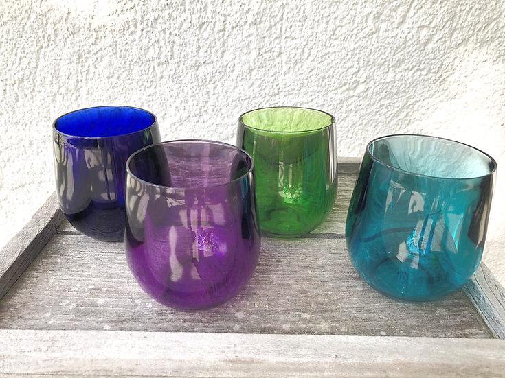 GASPA - verrres à eau multicolores - 4 pieces