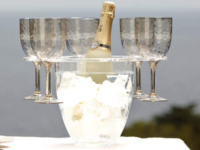 Set seau à champagne + 6 Verres
