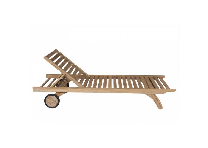 CAMARAT - Chaise longue en teck