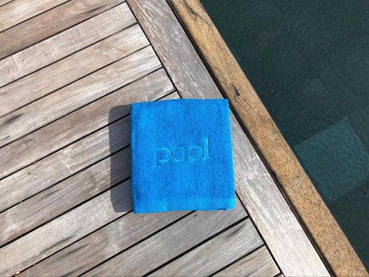 POOL - Serviette de bain - océan/broderie turquoise