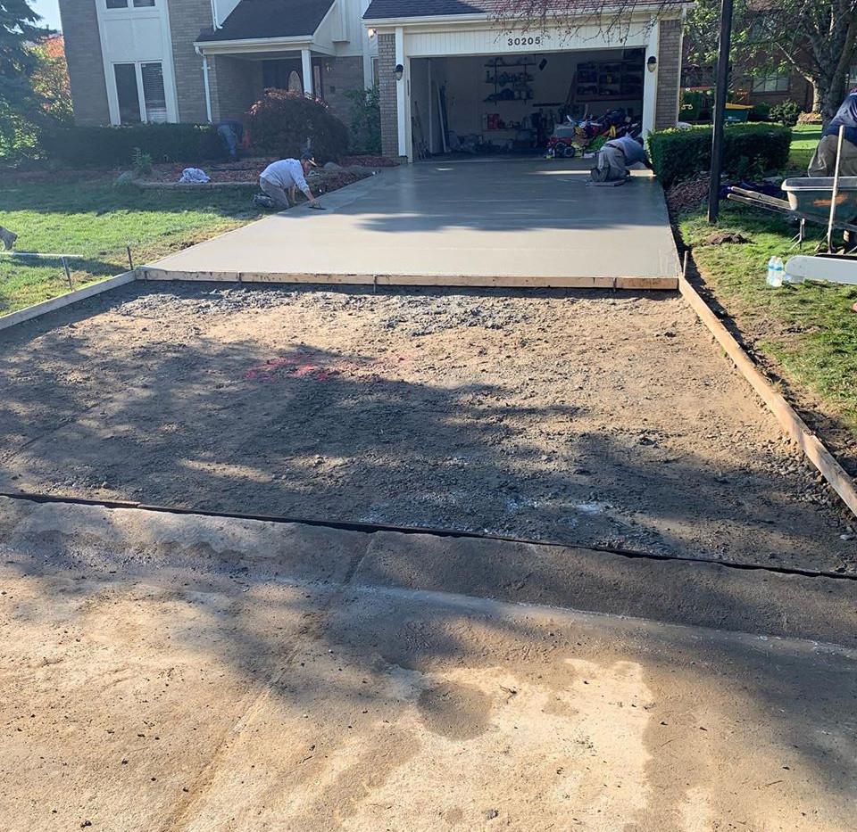 Concrete Driveway In Process