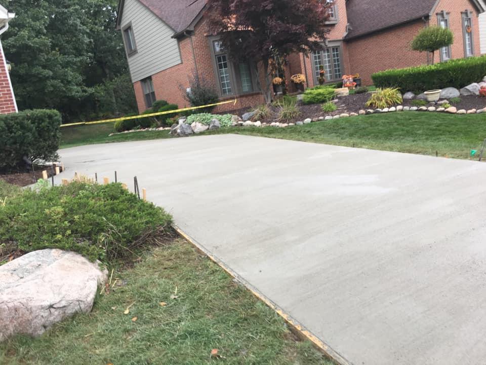 Flawless Concrete Driveway