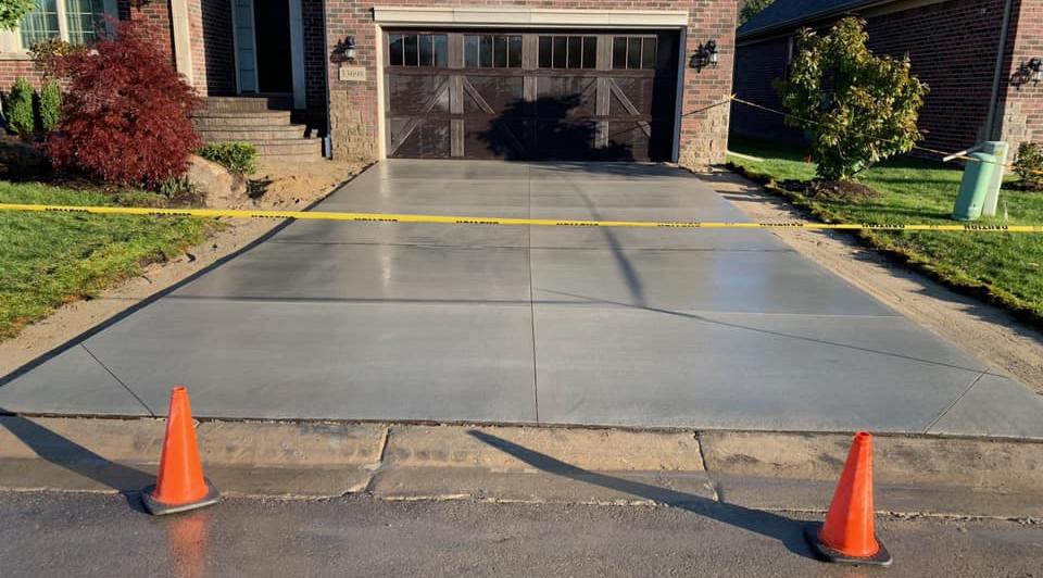 Last Stages of Concrete Driveway