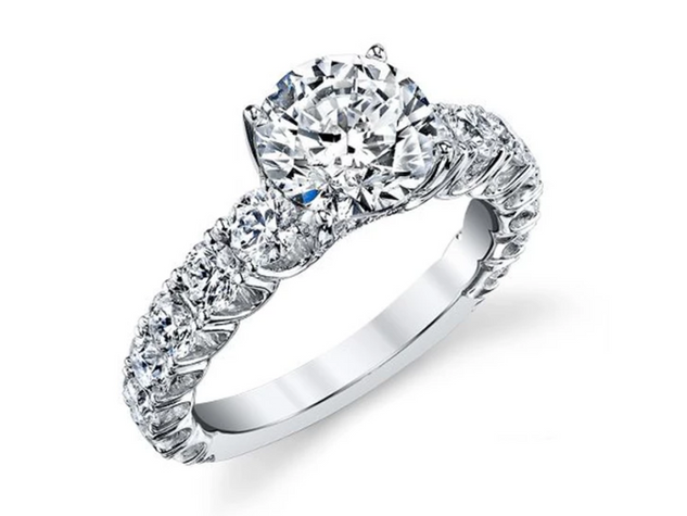 Side Stone Egagement Ring