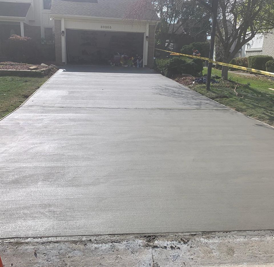 Finished Concrete Driveway