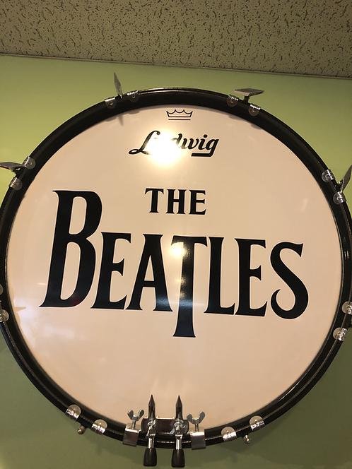 Handmade Beatles Long T Logo Bass Drum Wall Decoration