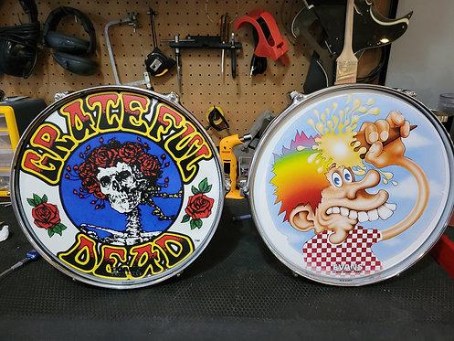 Grateful Dead Drum Decorations (set of 2)