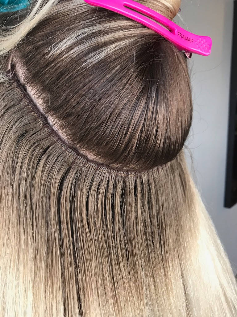 Beaded weft skw HBR extensions dallas