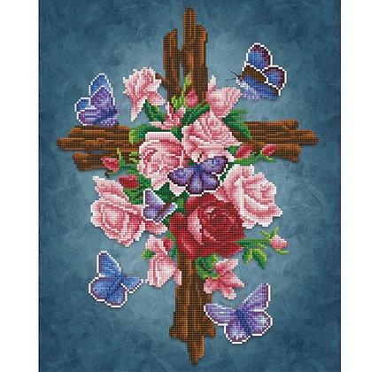 Flower Cross (Diamond Painting)