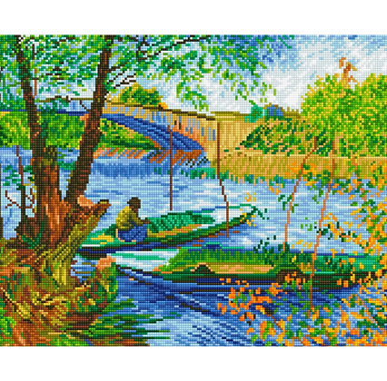 Fishing In Spring - Van Gogh (Diamond Painting)