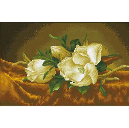 Magnolias on Gold Velvet - Martin Johnson Heade (Diamond Painting)