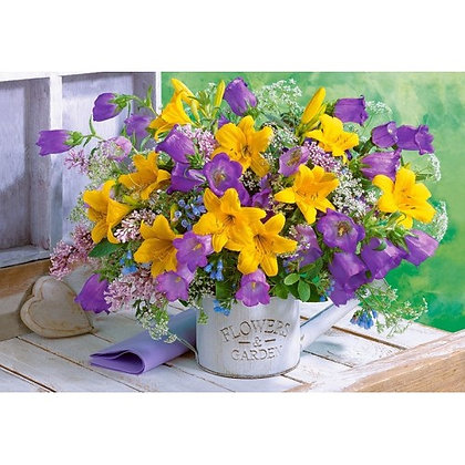 Bouquet of Lilies and Bellflowers
