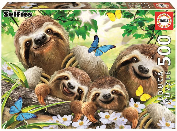 Sloth Family Selfie