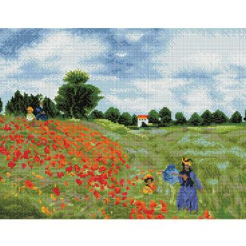 Poppy Fields - Monet (Diamond Painting)