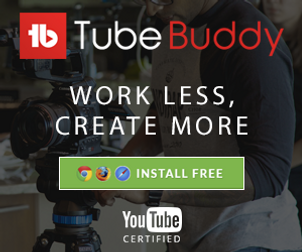 Tube Buddy advert and affiliate link.