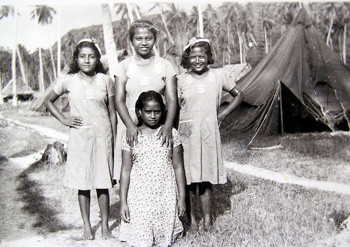 Banaban girls first settlers Rabi 1945