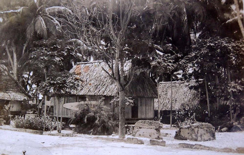 Ancestral Banaban villages, Ocean Island before destruction