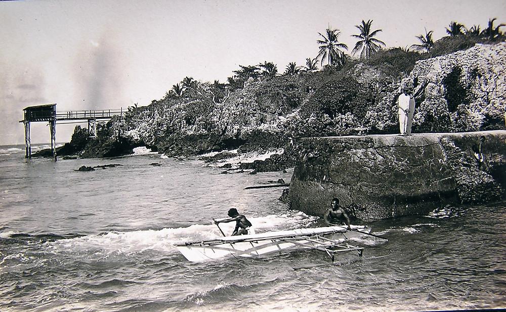 Traditional Banaban fisherman Ocean Island early 1900s