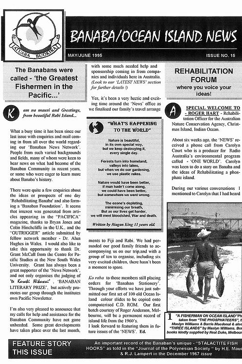 No. 15 Banaba/Ocean Island News  May-Jun 1995