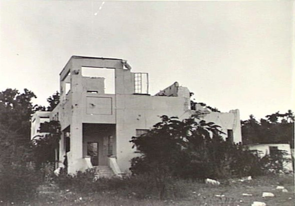 The Government Residency was destroyed by Japanese bombing just two days after the bombing of Pearl Harbour