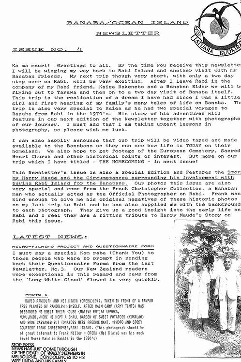 No. 4 Banaba/Ocean Island News Aug-Sep 1993