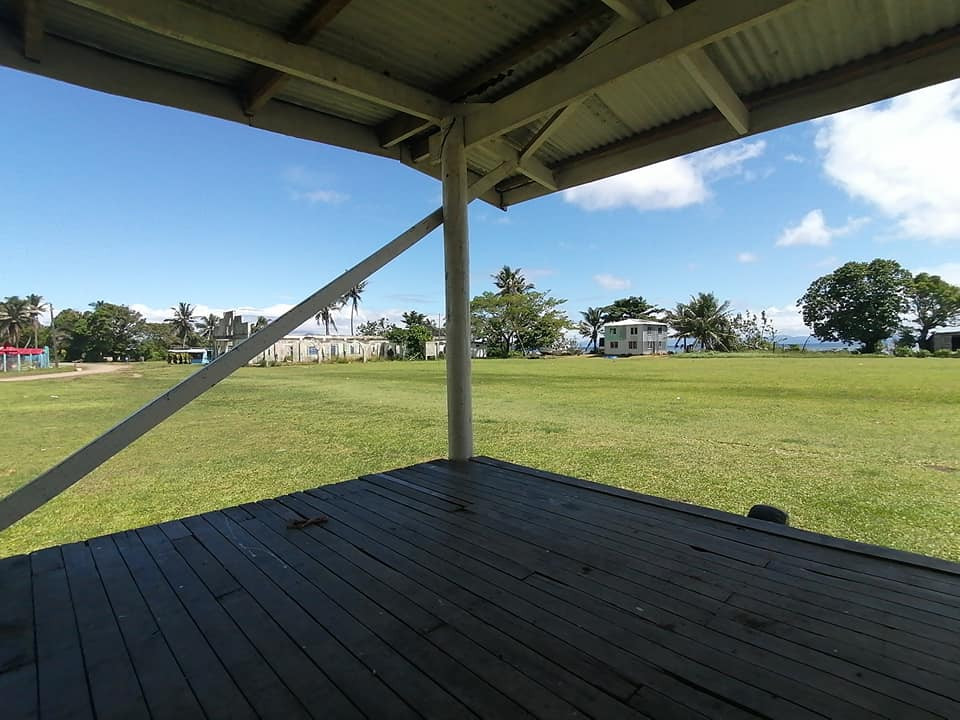 View from stage at main sports and cultural grounds Rabi, Fiji