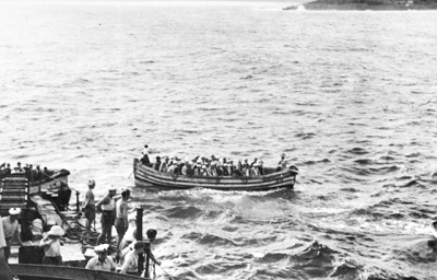 BPC staff being evacuated from Ocean Island prior to Japanese invasion