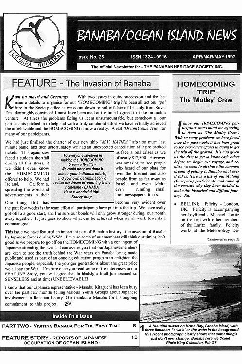No. 25 Banaba/Ocean Island News Jan-Feb-Mar 1997