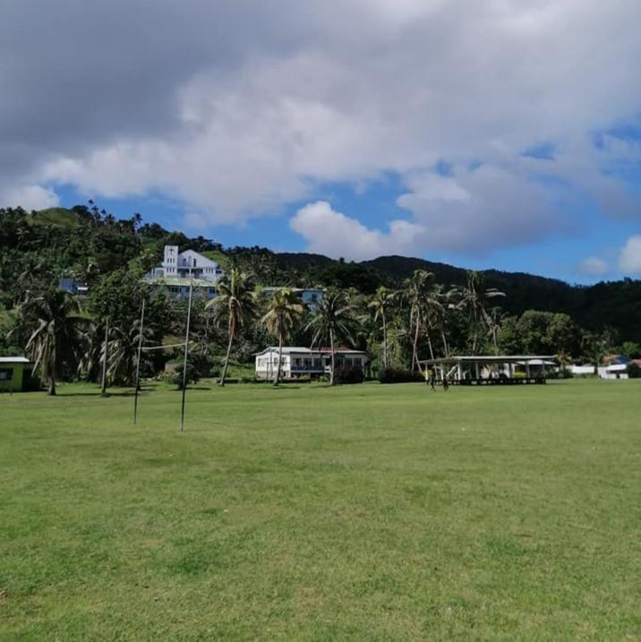Main oval and ground Rabi Island, Fiji.