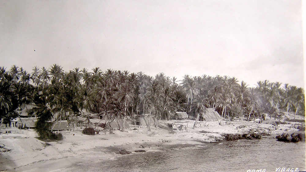 Uma Village, Ocean Island (Banaba) early 1900s