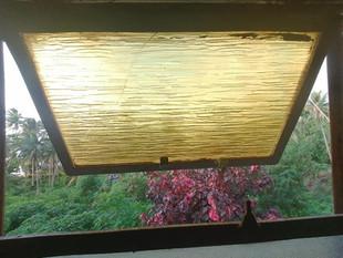 One of the windows at Methodist Church,