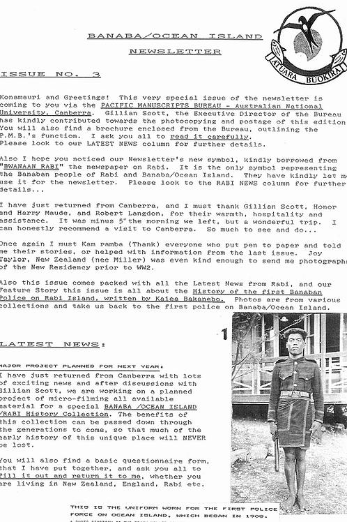 No. 3 Banaba/Ocean Island News Jun-Jul 1993