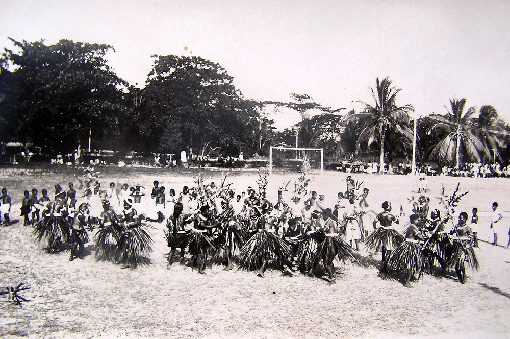 Intricate dance movements of Banaban te karanga Ocean Island 1932