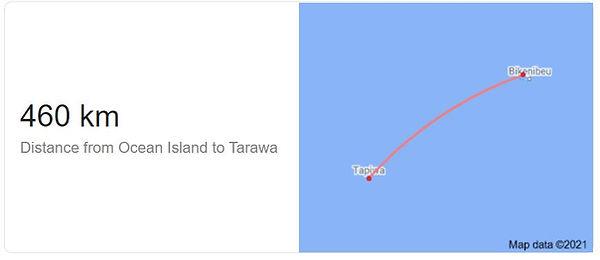 Distance Banaba to Tarawa, Kiribati.JPG