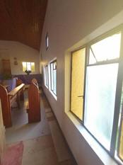 Row of windows inside Methodist Church,
