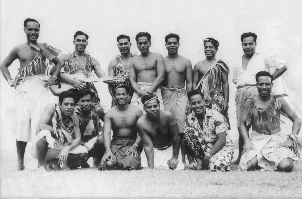 First Banaban born generation on Rabi, Fiji 1950s